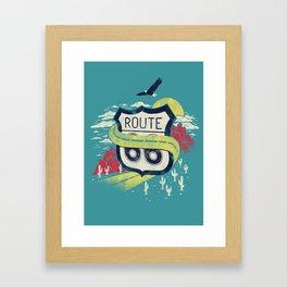 Get your kicks on Framed Art Print