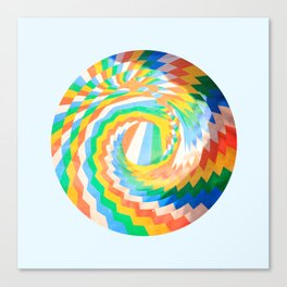 Swirl of colour Canvas Print