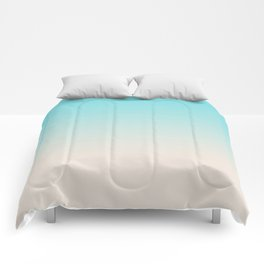 Ombre  digital illustration pastel colors 2 Comforters