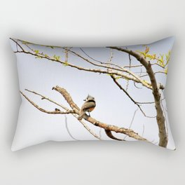 Perched Tufted Titmouse Rectangular Pillow
