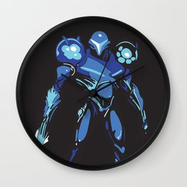 Dark Samus Simplified Wall Clock