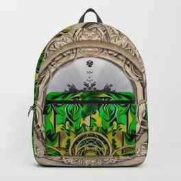 One good world and one Island pop-art Backpack