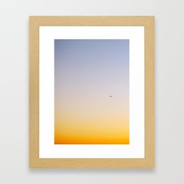 sun setting Framed Art Print