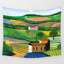 Green Fields Wall Tapestry