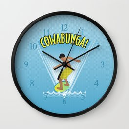 Cowabunga Flow-boarding Pop Art Wall Clock