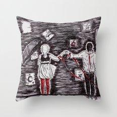 Tied to Disorder Throw Pillow