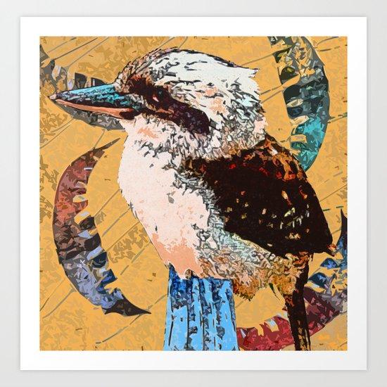 """Koo Koo for..."" ~ Kookaburra & Eucalyptus Leaf Pop Art Photography!  Art Print"