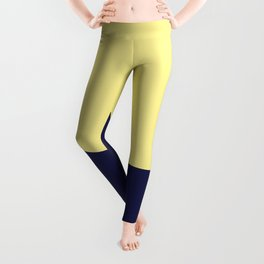 COLOUR COUPLES CANARY YELLOW AND BLUE Leggings