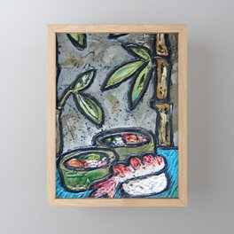 Sushi Framed Mini Art Print