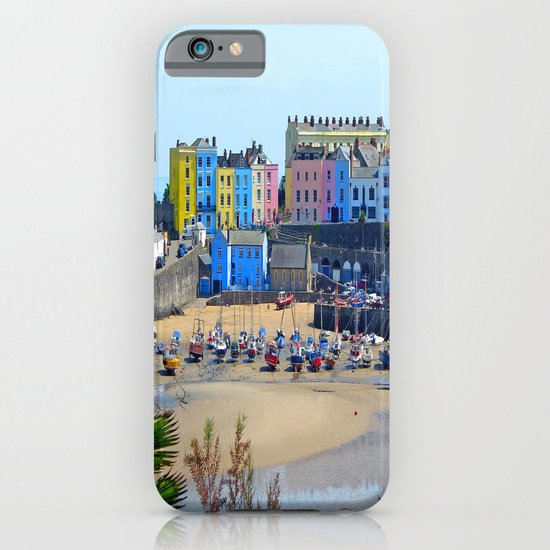 Tenby Harbour.Colour.Reflection. iPhone & iPod Case