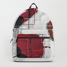 Digital Abstract Heart Design Backpack