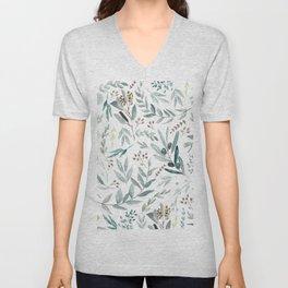 Eucalyptus pattern Unisex V-Neck