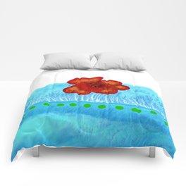 Coquelicot de jour bis Comforters