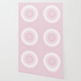 Boho Pink Mandala Wallpaper