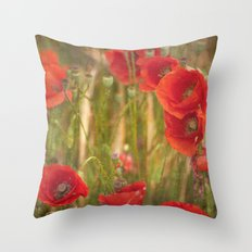 Poppies...... Throw Pillow