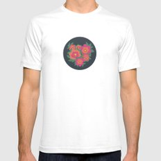 Rosa White Mens Fitted Tee SMALL