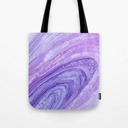 Purple Agate Geode Crystal Slice Tote Bag