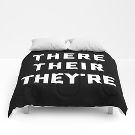 There Their They're Funny Quote Comforters