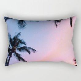 Coastal palms colorful sky Rectangular Pillow