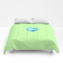 Crystal Heart Solo Version - Green BG Comforters