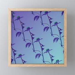 Rose Calm Ocean View gradient color Framed Mini Art Print