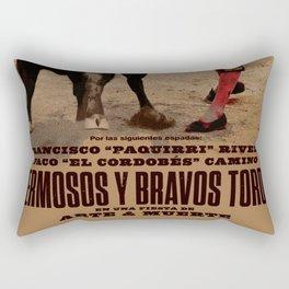 Hermosos y Bravos Toros Rectangular Pillow