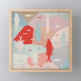 California Pastel Fish Framed Mini Art Print