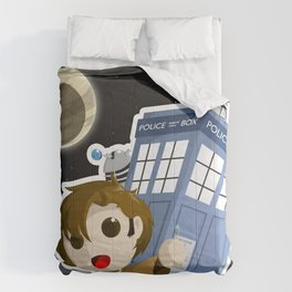 Tenth Doctor and the TARDIS Comforters