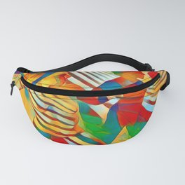 7586s-MM Red Shadow Heart Catch Cherish Set Free Abstract Romantic Love Fanny Pack