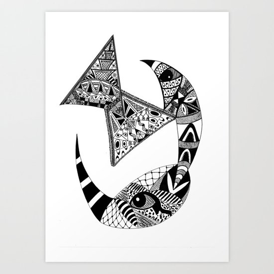 Rhino Horn Art Print