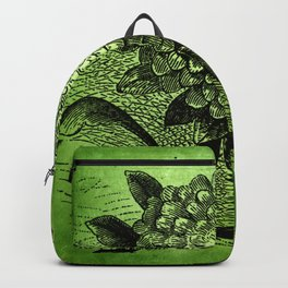 floral on green Backpack