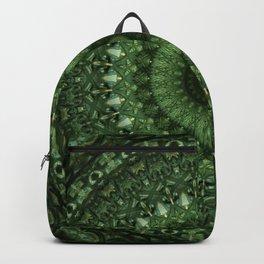 Mandala in olive green tones Backpack