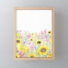 Summer Garden (Sunflower Passion) Framed Mini Art Print