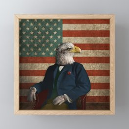 Official Portrait of Senator Silas Eagle Framed Mini Art Print