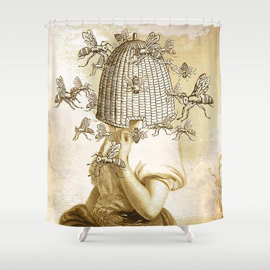 HIVE MIND Shower Curtain