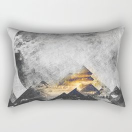 One mountain at a time - Black and white Rectangular Pillow