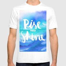 Rise & Shine [Collaboration with Jacqueline Maldonado] White MEDIUM Mens Fitted Tee