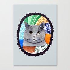 KITTY / GREY Canvas Print