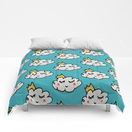 April showers king cloud Teal #nursery Comforters