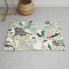 Surreal Wilderness / Colorful Jungle Rug