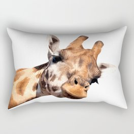 Giraffe portrait Rectangular Pillow