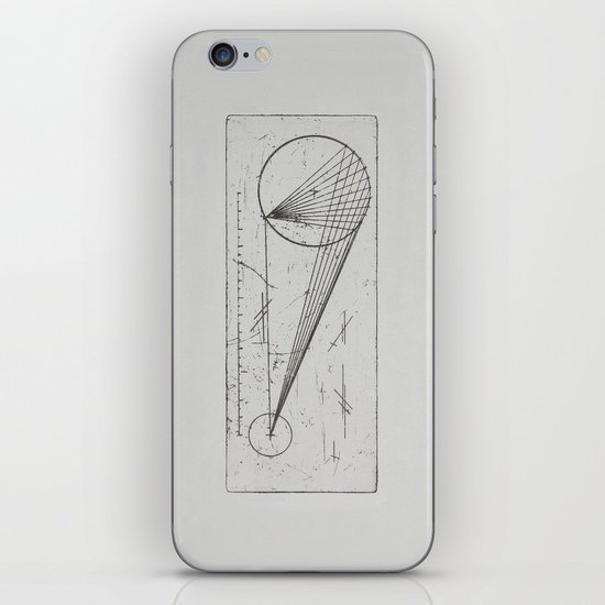 Etched print no. 1 iPhone & iPod Skin