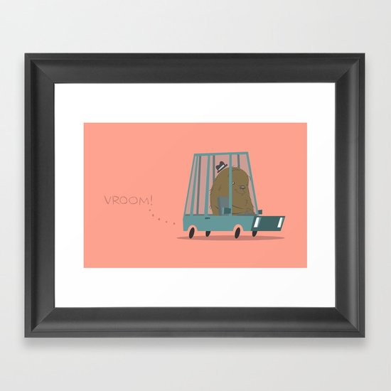 Vroom Framed Art Print