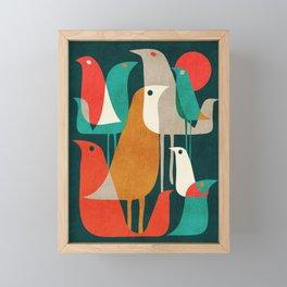 Flock of Birds Framed Mini Art Print