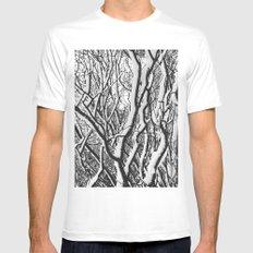 sleepy trees White Mens Fitted Tee MEDIUM