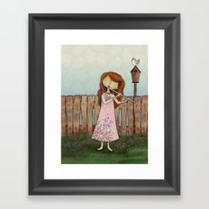 Lucy Plays a Song of a New Birth Framed Art Print