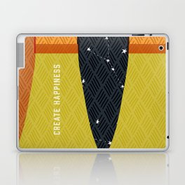 Create Happiness Modern Geometric Masculine Laptop & iPad Skin