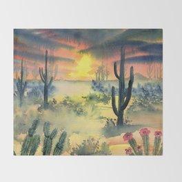 Desert Twilight Throw Blanket