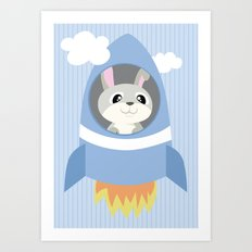 Mobil series rocket bunny Art Print