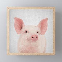 Pig - Colorful Framed Mini Art Print